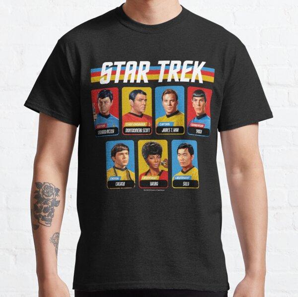 Star Trek Original Series Retro Full Color Crew Portrait Panels Classic T-Shirt