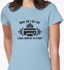 Laser Printer Women's Fitted T-Shirt