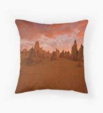 Pinnacles at sunset. Throw Pillow