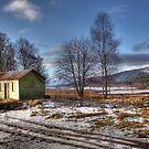 Two Huts by Lynne Morris
