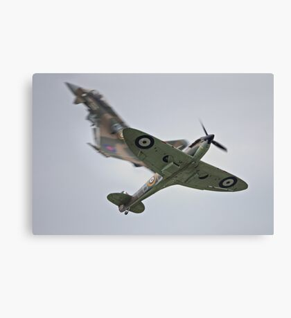 Eurofighter and Spitfire Pass Canvas Print