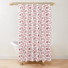 Number 1 Stamp Shower Curtain