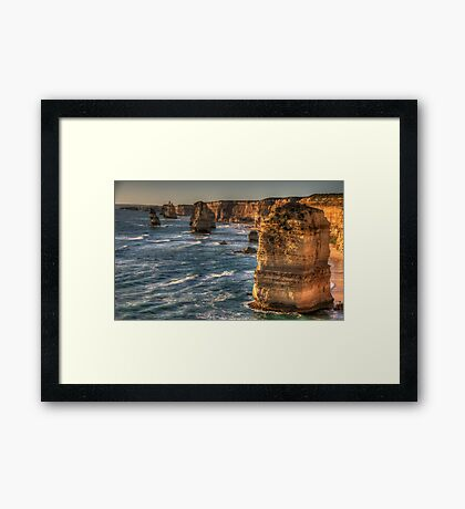 Weathered In Time - The Twelve Apostles - Great Ocean Road Victoria - The HDR Experience Framed Print