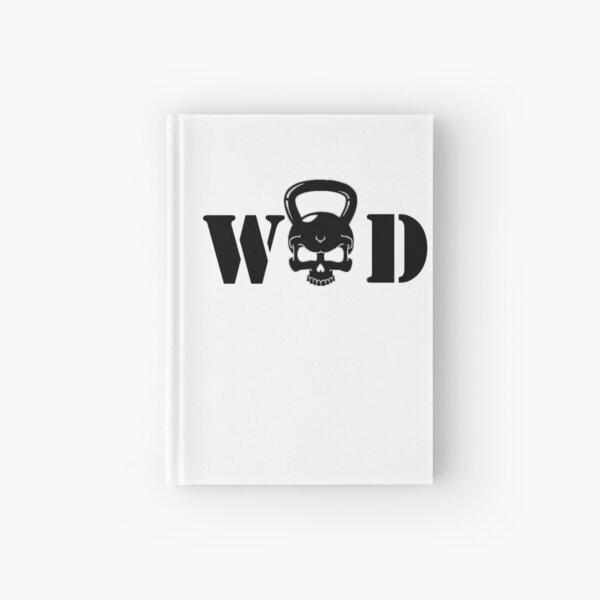 WOD Kettlebell Skull Black Hardcover Journal