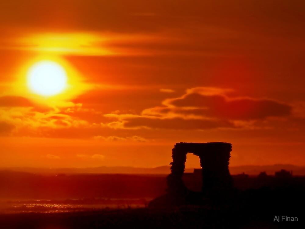 Sunset Over Newark Castle by Aj Finan