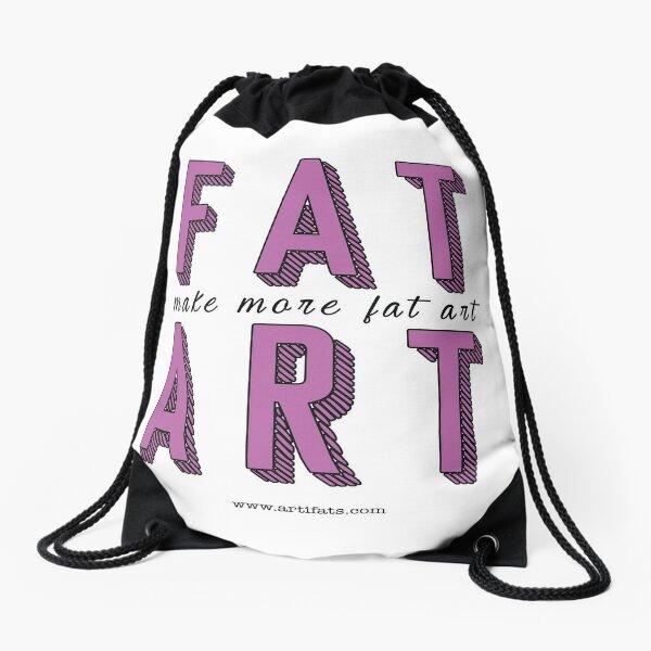 Make More Fat Art Drawstring Bag