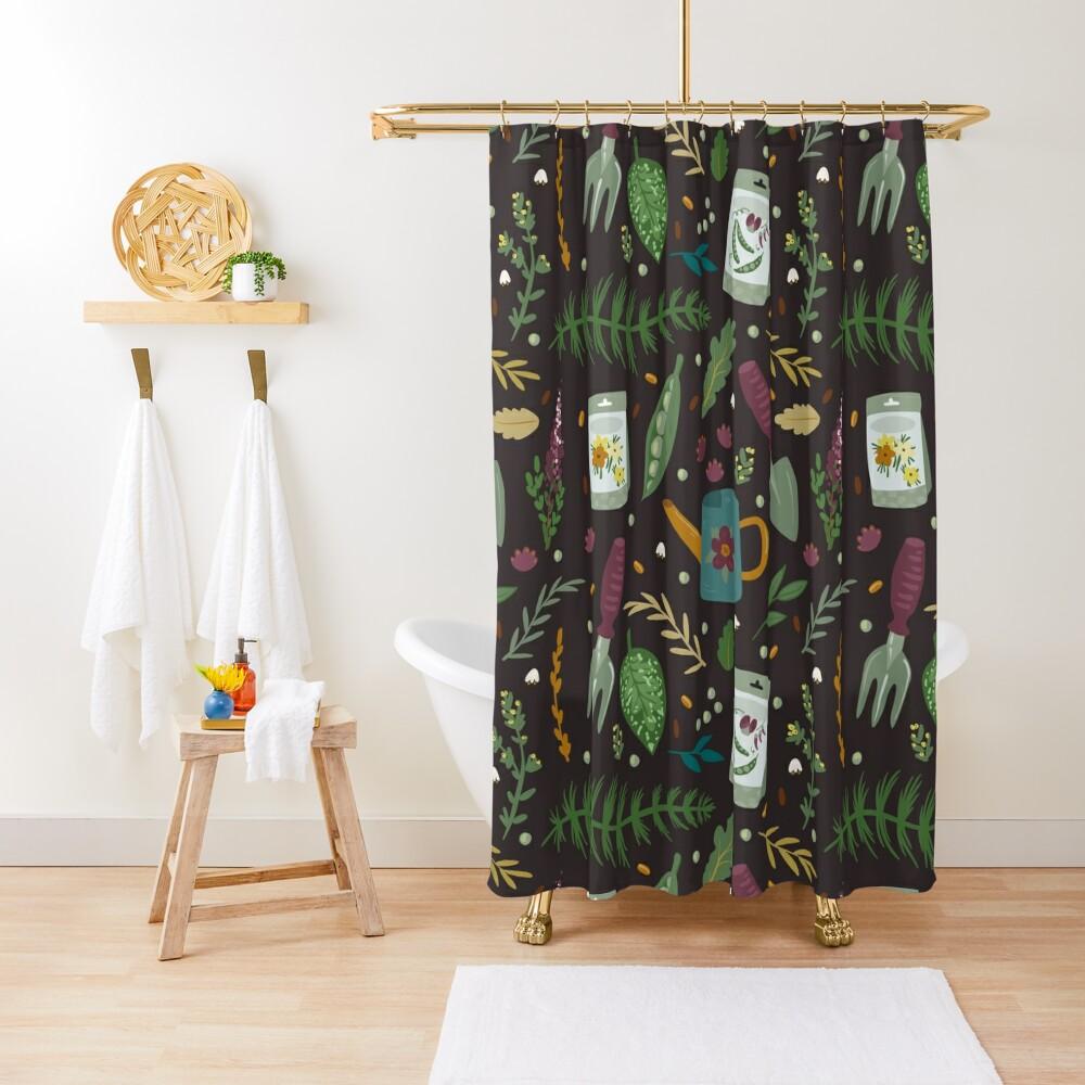 Garden tillage Shower Curtain