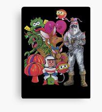 Classic Retro Atari Characters T-Shirt Canvas Print