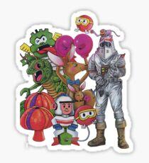 Classic Retro Atari Characters T-Shirt Sticker