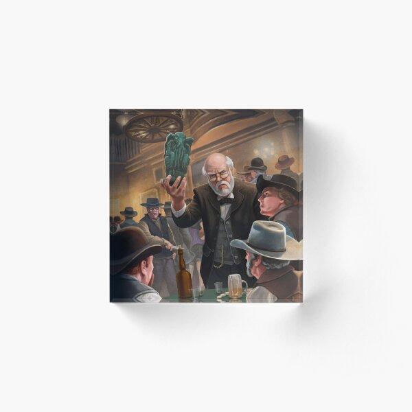 Old Man with Idol by M. Wayne Miller Acrylic Block