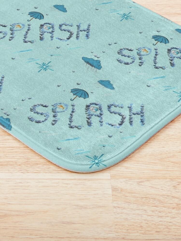 Alternate view of A Splash of Blue Bath Mat
