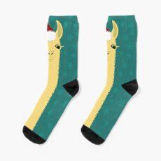 SANTA LLAMA Socks