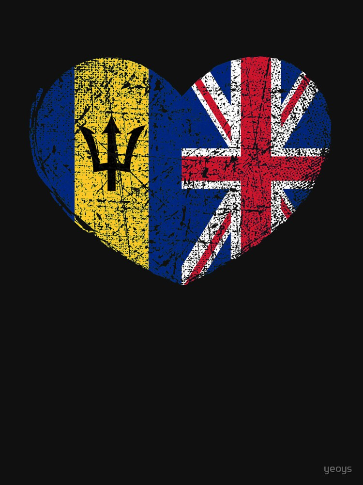 Barbados United Kingdom Heart - Dual Citizenship by yeoys