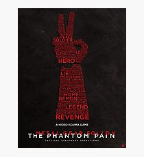 Words Can Kill - Metal Gear Solid V: The Phantom Pain Photographic Print