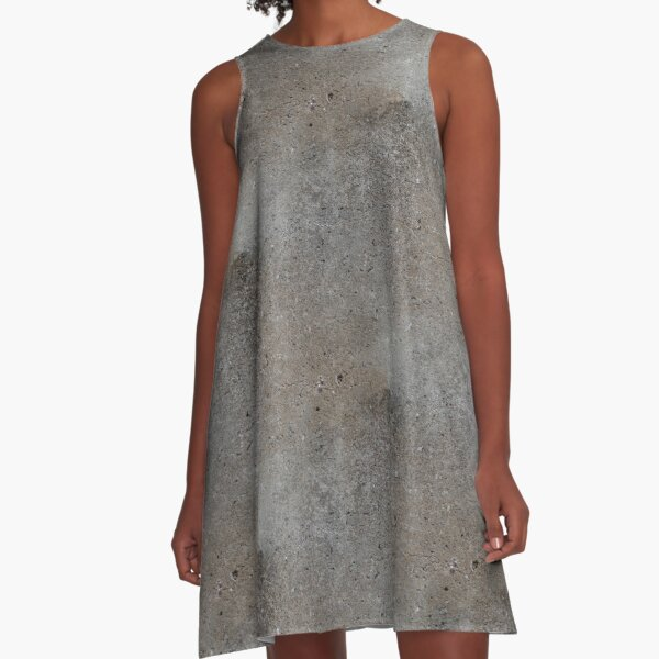 Texture of a cement wall (made seamless) A-Line Dress