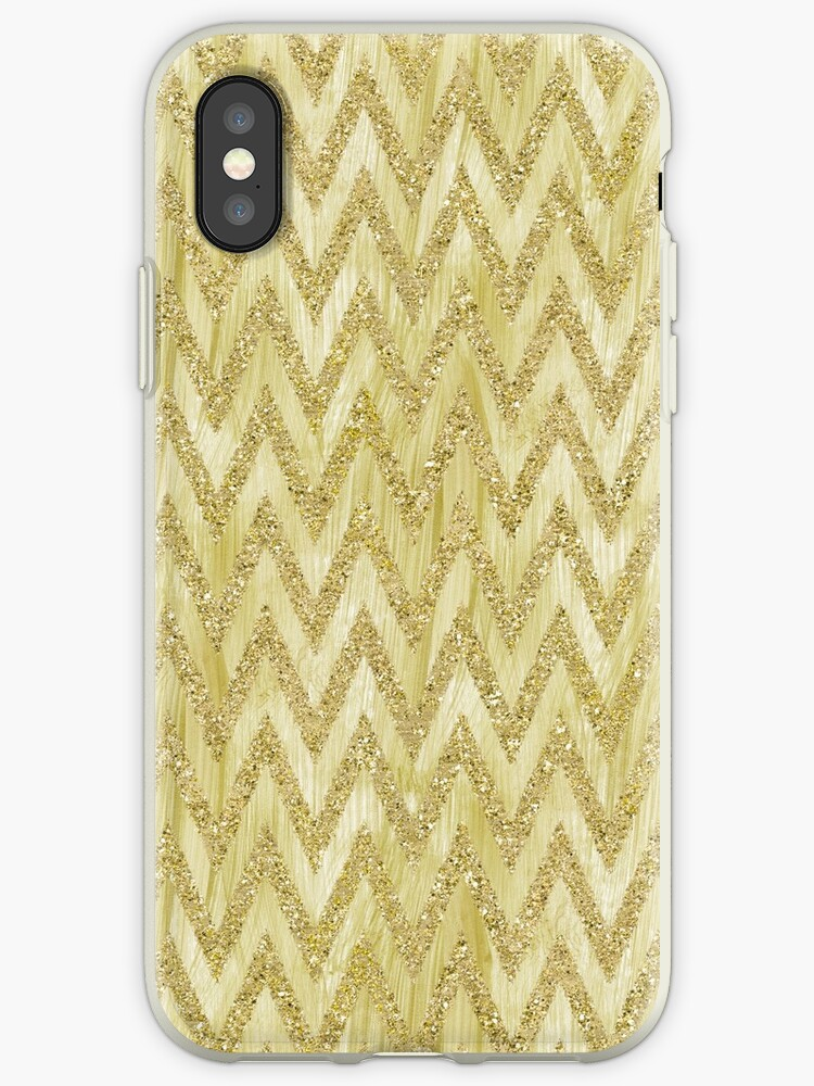 Gold Faux Glitter Paint Chevron Stripes   by pencreations
