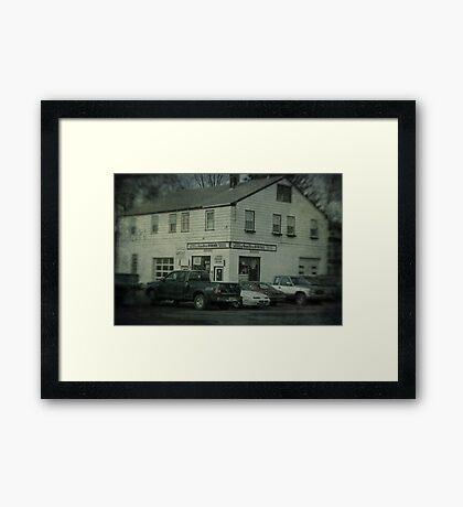 Gunn Bros. Garage Framed Print