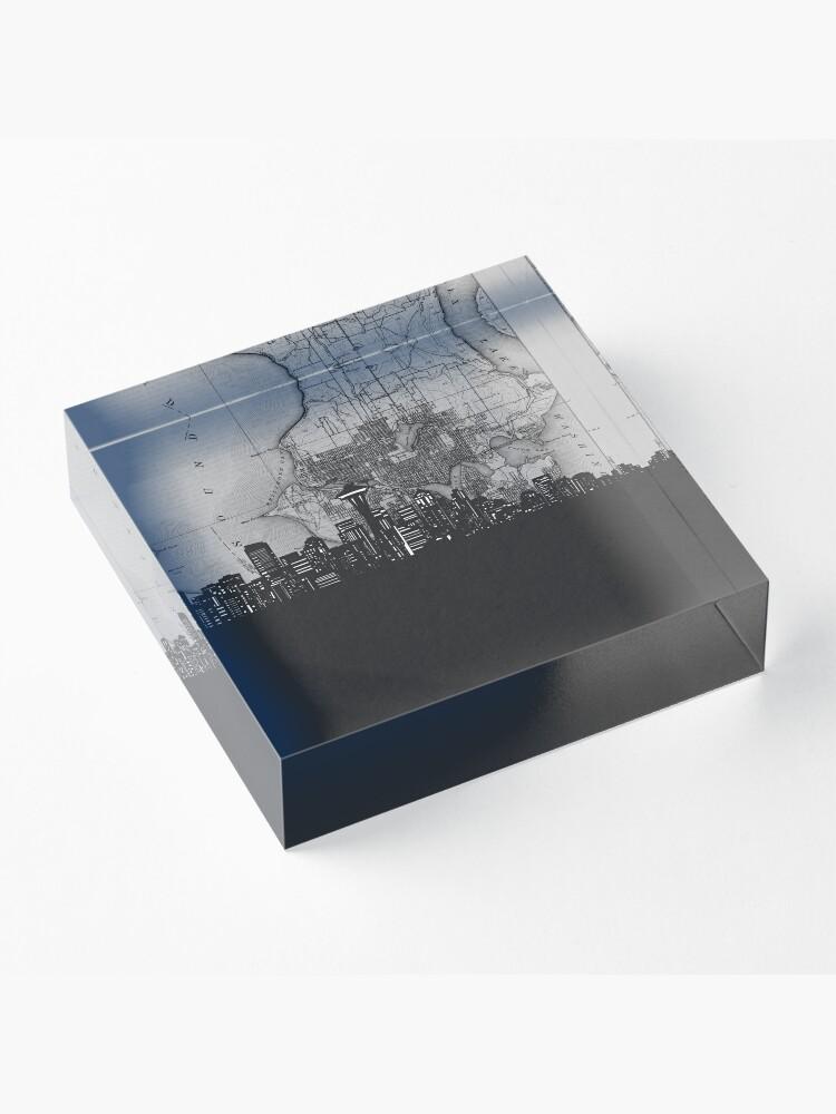Alternate view of seattle skyline Acrylic Block