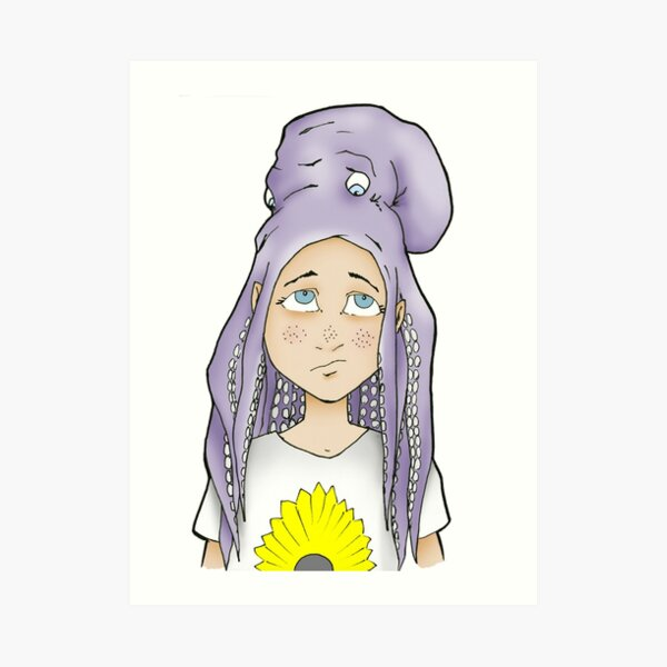 Gothic woman with octopus hair comic FANTASY ART