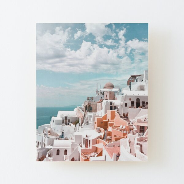 Santorini Oia Greece Wood Mounted Print