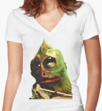 Land Of The Lost Sleestak T-Shirt Women's Fitted V-Neck T-Shirt