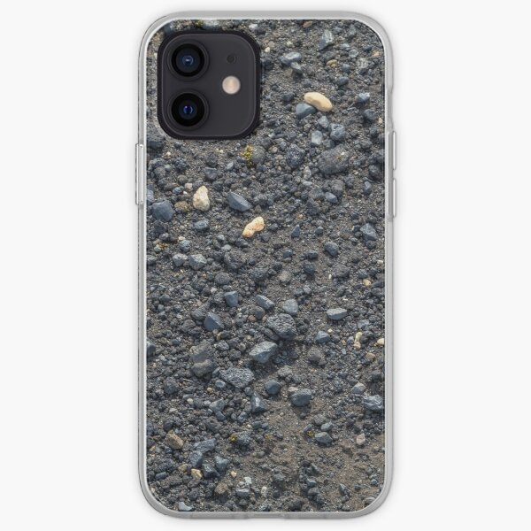 Closeup of volcanic ash and tiny rocks iPhone Soft Case
