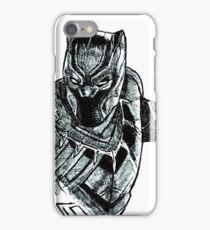 Black Panther art iPhone Case/Skin