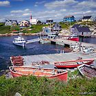 Old  Fishing Boats at Peggys Cove by kenmo