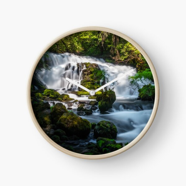 Waterfall in the forest Clock