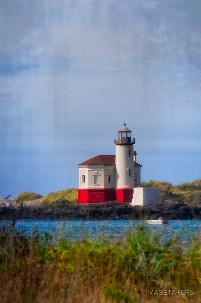 Coquille River Lighthouse - River Watcher by IMAGETAKERS
