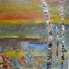 Glimpse of Mundaring Weir by Carollyn Rhodes-Thompson