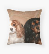 Brother and Sister ~ Cavaliers King Spaniels Throw Pillow