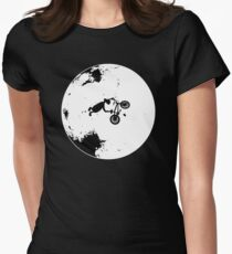 ET Extraterrestrial Moon BMX Trick Women's Fitted T-Shirt