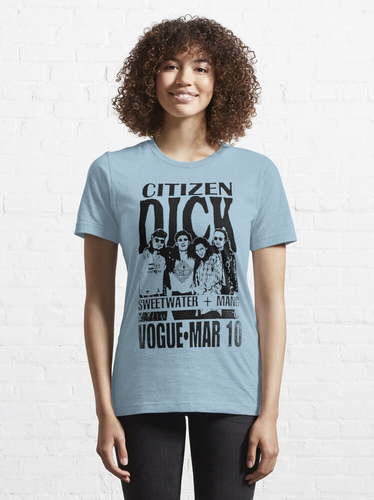 Alternate view of Faded Citizen Dick Concert Flyer Essential T-Shirt