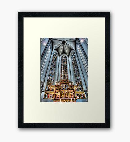 St. James Cathedral, Rothenburg ob der Tauber. Framed Print