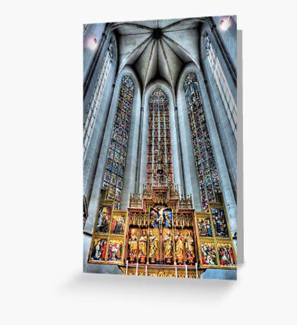 St. James Cathedral, Rothenburg ob der Tauber. Greeting Card