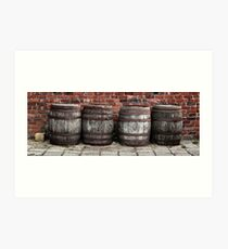 Four Barrels? Art Print