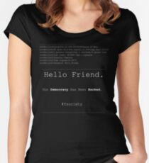 Hello Friend@fsociety Women's Fitted Scoop T-Shirt