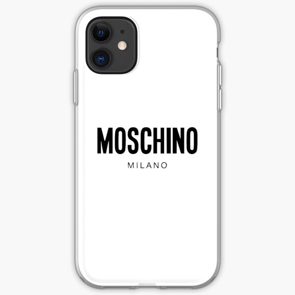Moschino Milano Merchandise iPhone Soft Case