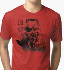 MGSV - All For Revenge (Japanese Kanji) Tri-blend T-Shirt