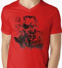 MGSV - All For Revenge (Japanese Kanji) Men's V-Neck T-Shirt
