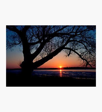 Winter Sunset Photographic Print