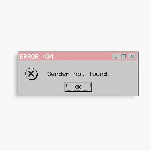 Genderqueer Gender Not Found Nonbinary Canvas Print
