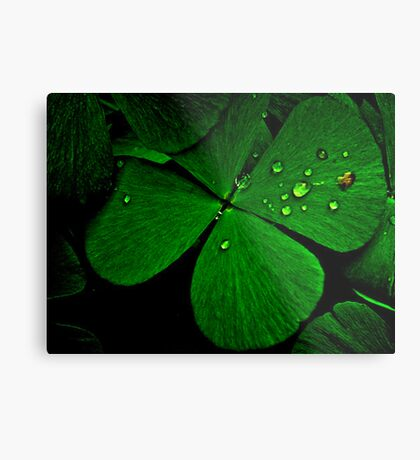 Green Luck: SOLD, On 5 Featured Works,  Metal Print