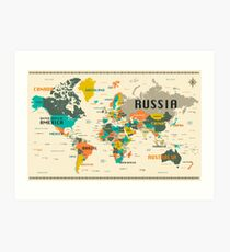 World map actual size wall art redbubble world map art print gumiabroncs Choice Image