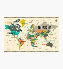 World Map With Actual Sizes.World Map Actual Size Wall Art Redbubble