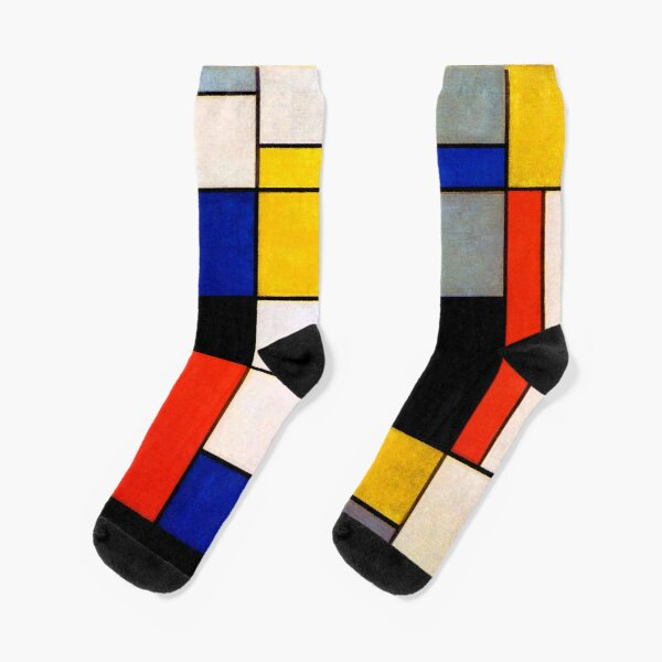 Modern Art Piet Mondrian Composition A  Socks