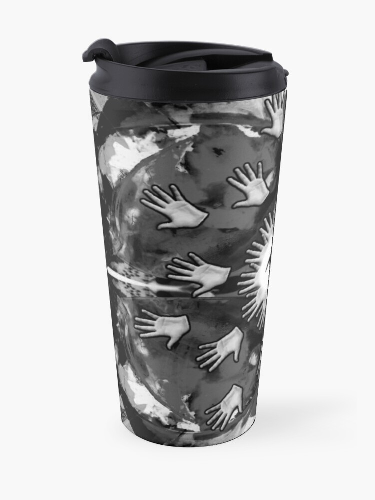 Alternate view of Hand me the food (Greyscale) Travel Mug