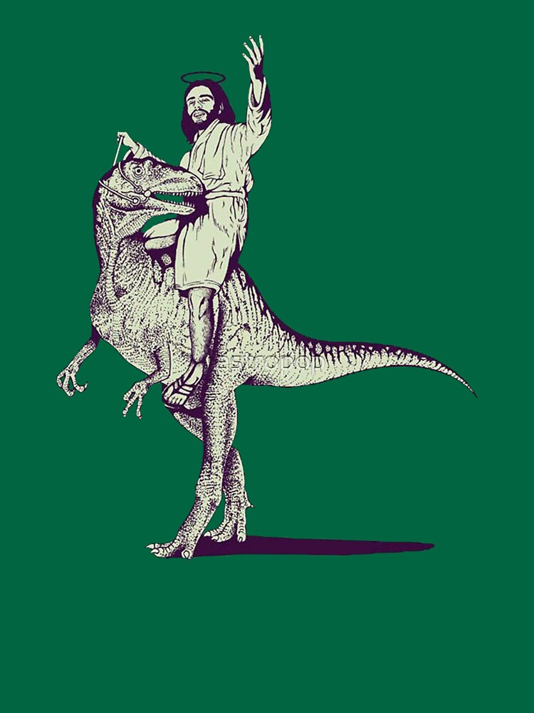 Jesus Riding Dinosaur | Unisex T-Shirt