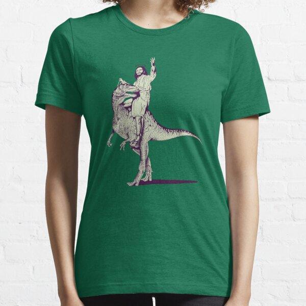 Jesus Riding Dinosaur Essential T-Shirt